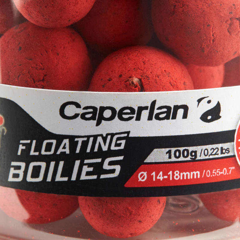 floating boilies carp fishing 14mm and 18mm 100 g Strawberry