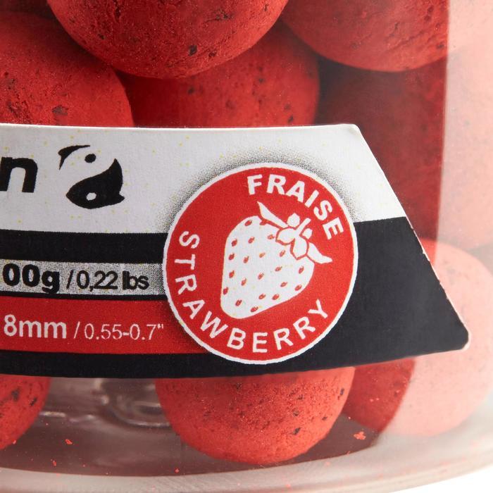 Drijvende boilies voor karpervissen aardbei 100 g 14 en 18 mm
