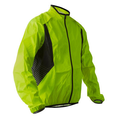 COUPE PLUIE VELO HOMME 500 JAUNE VISIBLE