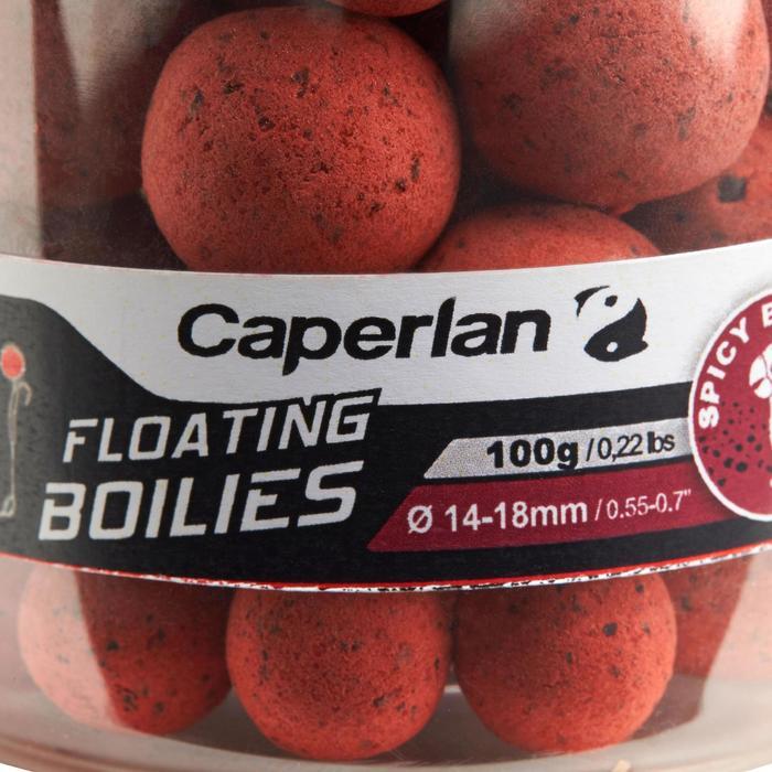 bouillettes flottantes pêche de la carpe spicybirdfood 100gr 14 et 18mm