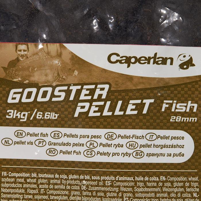 PELLETS de pesca de la carpa GOOSTER FISH 28 mm 3 kg