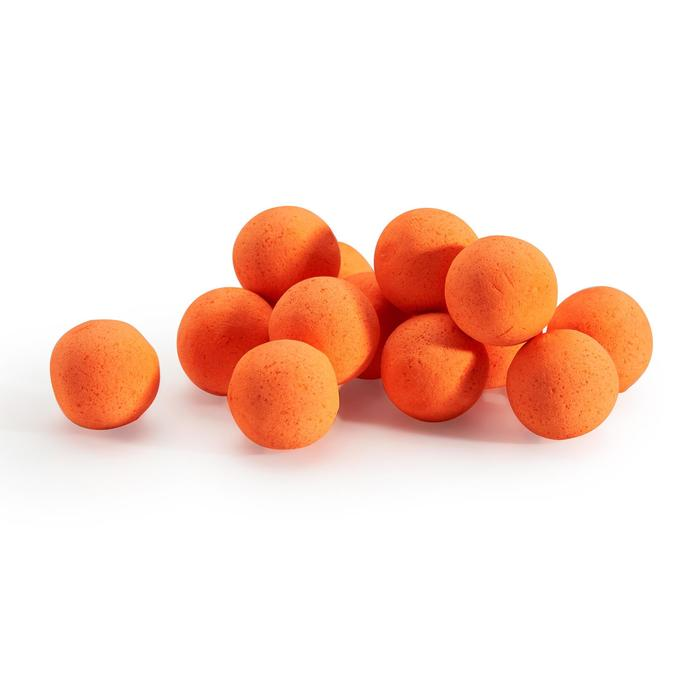 bouillettes flottantes pêche de la carpe monstercrab orange fluo 14 et 18mm