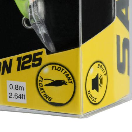 Saxton Slim 125 Sea Fishing Plug Bait Holo Lemon