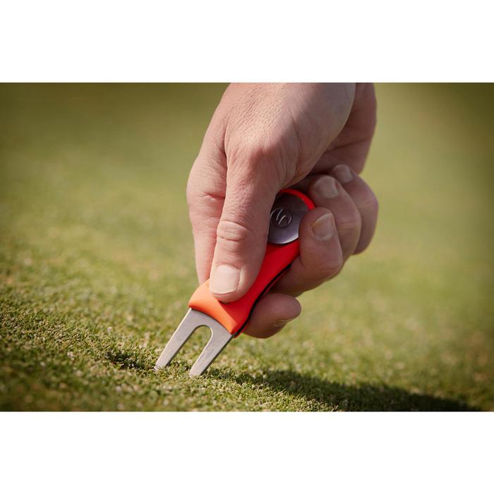 自動開闔草皮修復球叉-黃色