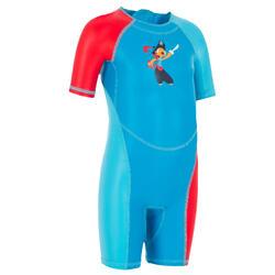 嬰幼兒印花連身泳裝Kloupi - 藍色
