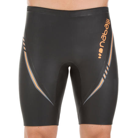 500 NEOPRENE MEN'S JAMMER SWIMSUIT - BLACK - 4 mm GLIDSKIN