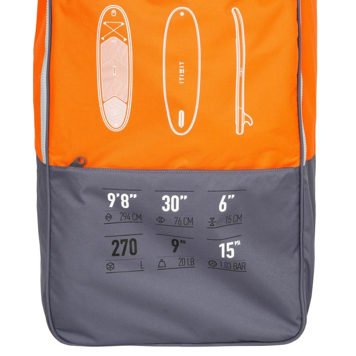 STAND UP PADDLE GONFLABLE RANDONNEE 100 / 9'8 ORANGE - 1132504