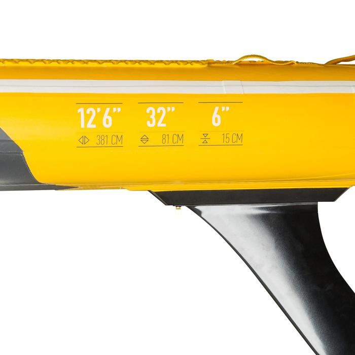 """STAND UP PADDLE GONFLABLE RANDONNEE 500 / 12'6-32"""" JAUNE"""