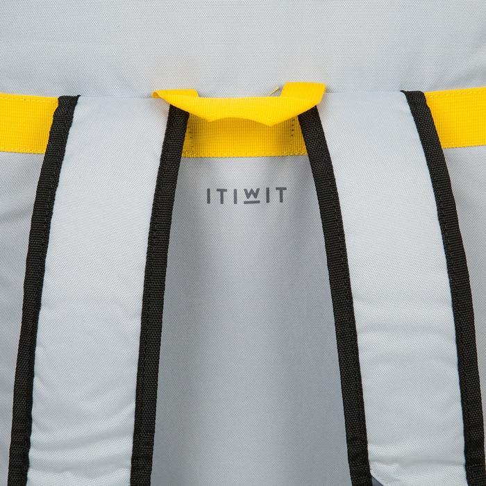 """500充氣式旅行立式划槳板500 12'6到32""""-黃色"""