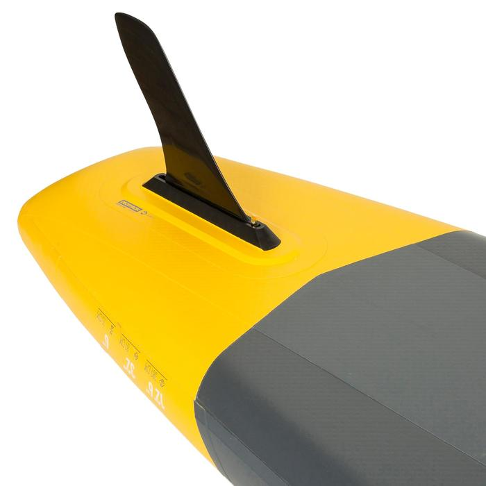 """12'6-32"""" 遊覽競賽用充氣式立式單槳衝浪槳 500 - 黃色"""