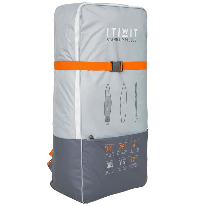 """充氣式旅行立式划槳板500 12'6到29""""-橘色"""