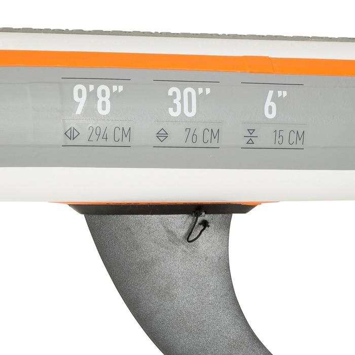 """9'8"""" 充氣式遊覽用立式單槳 100 - 橘色"""