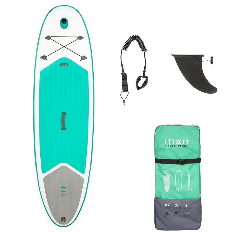 Touring stand up paddle - Beginner Inflatable Touring Stand-Up Paddle Board  8'9
