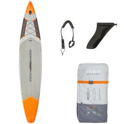"""Opblaasbaar supboard 500 / 12'6-29"""" voor tochten en wedstrijden oranje"""