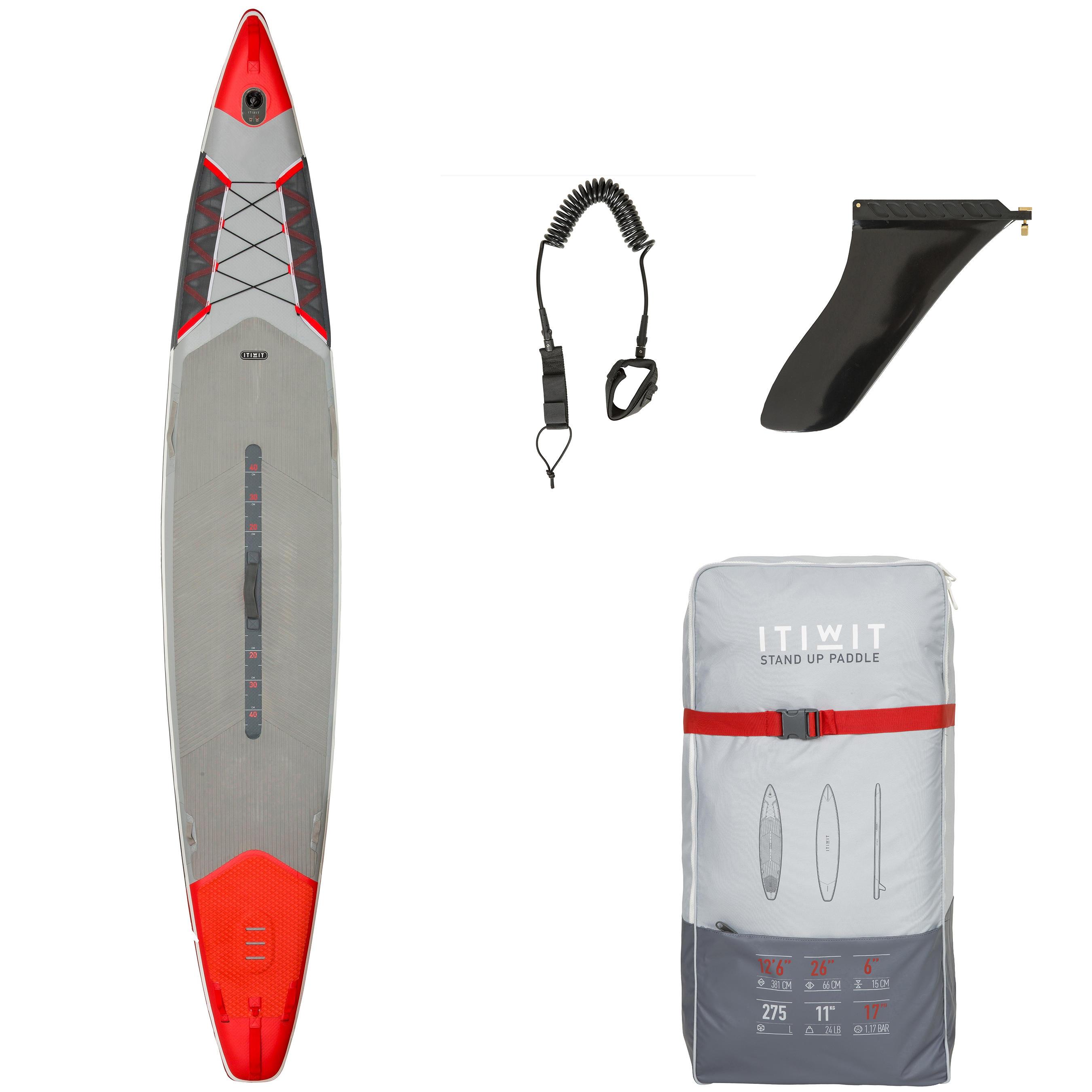 Itiwit Opblaasbaar supboard 500 - 12'6-26 voor tochten en wedstrijden, rood