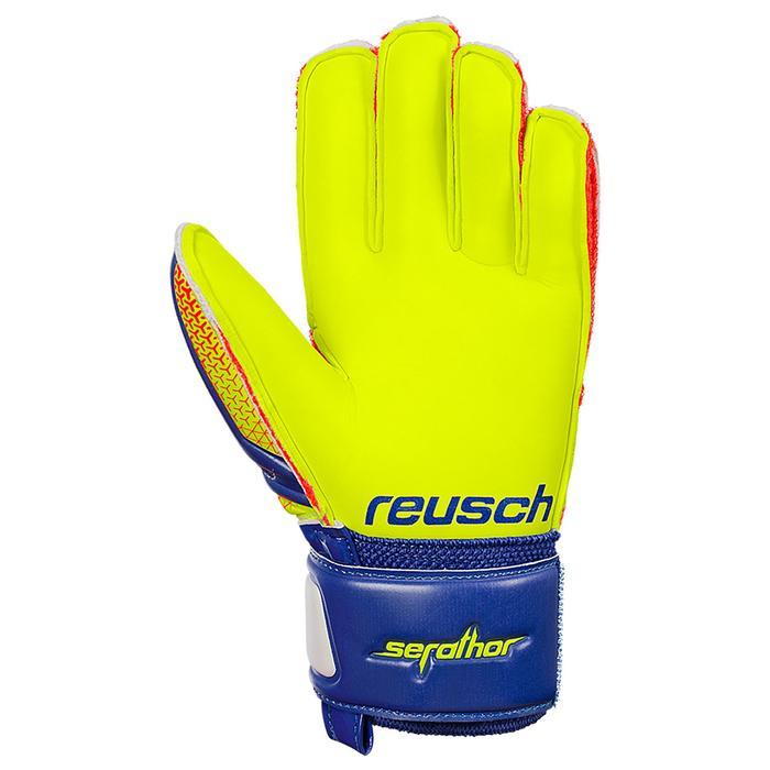 Guantes portero fútbol niños Serathor Finger Support azul amarillo