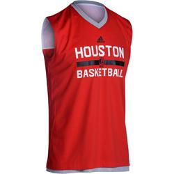 Basketbalshirt NBA Houston Rockets omkeerbaar volwassenen rood/grijs