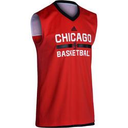 Basketbalshirt NBA Chicago Bulls omkeerbaar volwassenen zwart/rood
