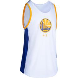 Basketbalshirt NBA Golden State Warriors volwassenen wit/blauw