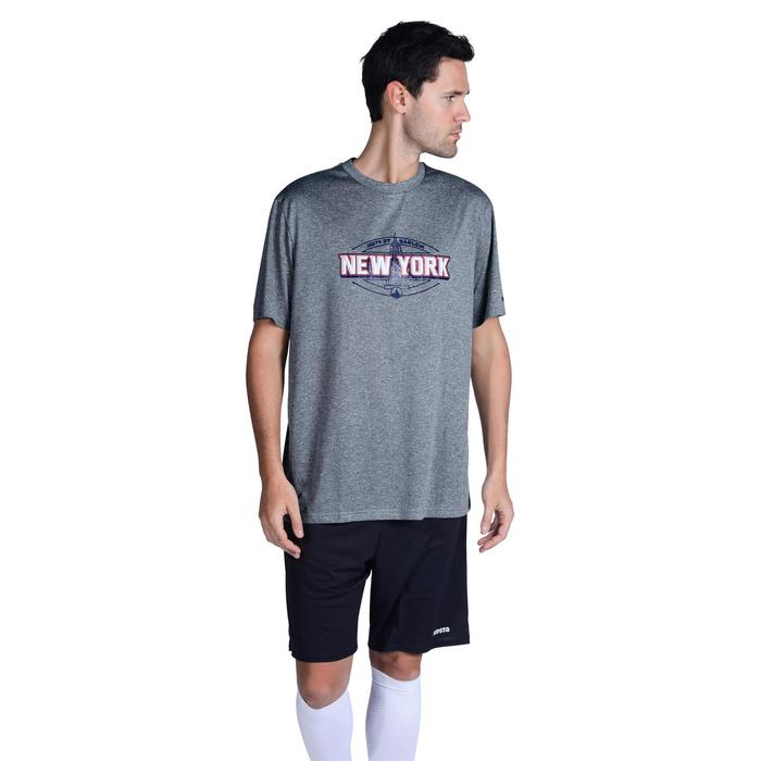 初學者/經驗豐富者用紐約籃球運動T恤 - 灰色