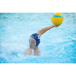 Wasserball Water Polo 500 Gr.4 gelb/blau