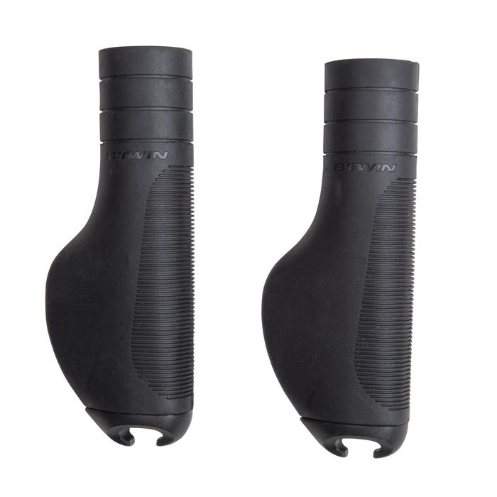 City 500 Ergonomic Handlebar Grips - Black