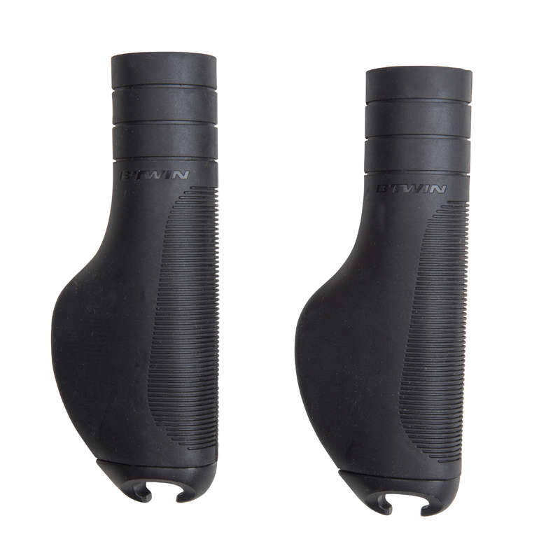 BIKE STEERING SYSTEM Cycling - City 500 Ergo Grips - Black BTWIN - Bike Parts