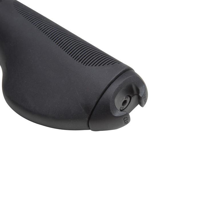 Fahrradgriffe City 500 schwarz ergonomische Form