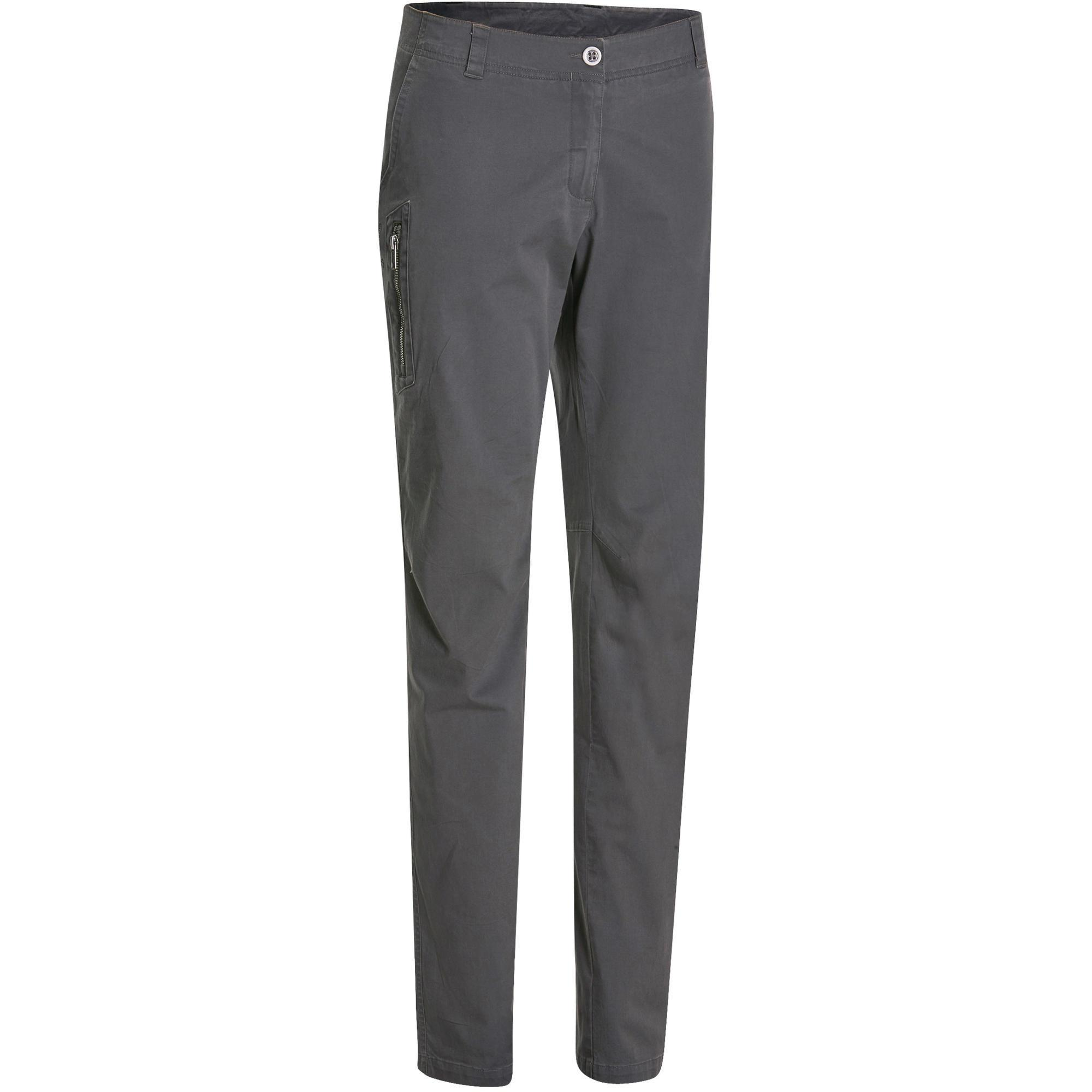Women S Nh500 Nature Hiking Trousers Grey Quechua