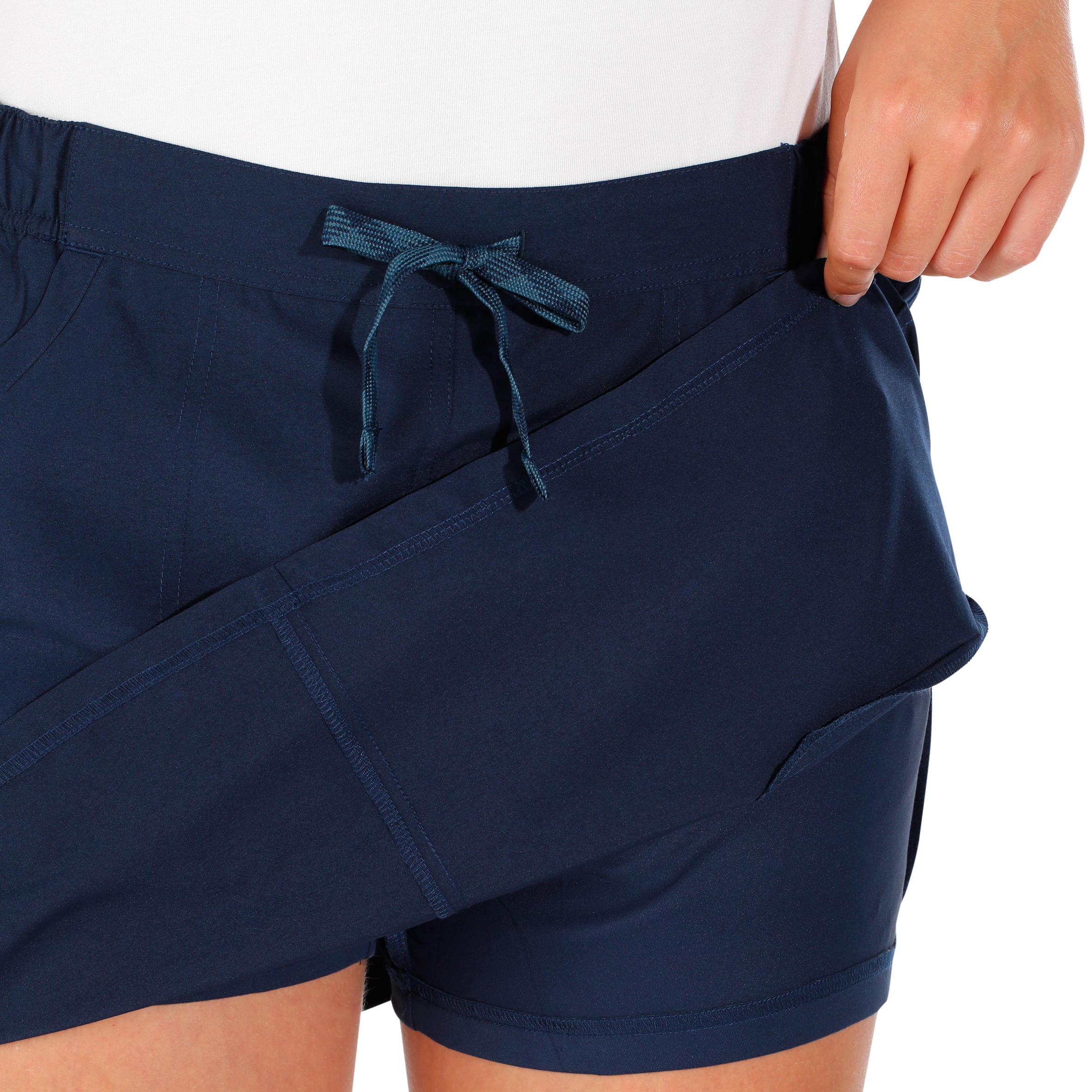 diseño de moda venta más caliente incomparable Falda-short travesía naturaleza mujer Arpenaz 50 azul marino