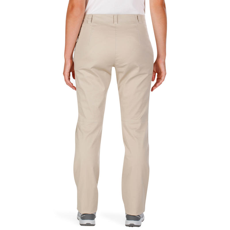Pantalon randonnée nature femme NH500 beige