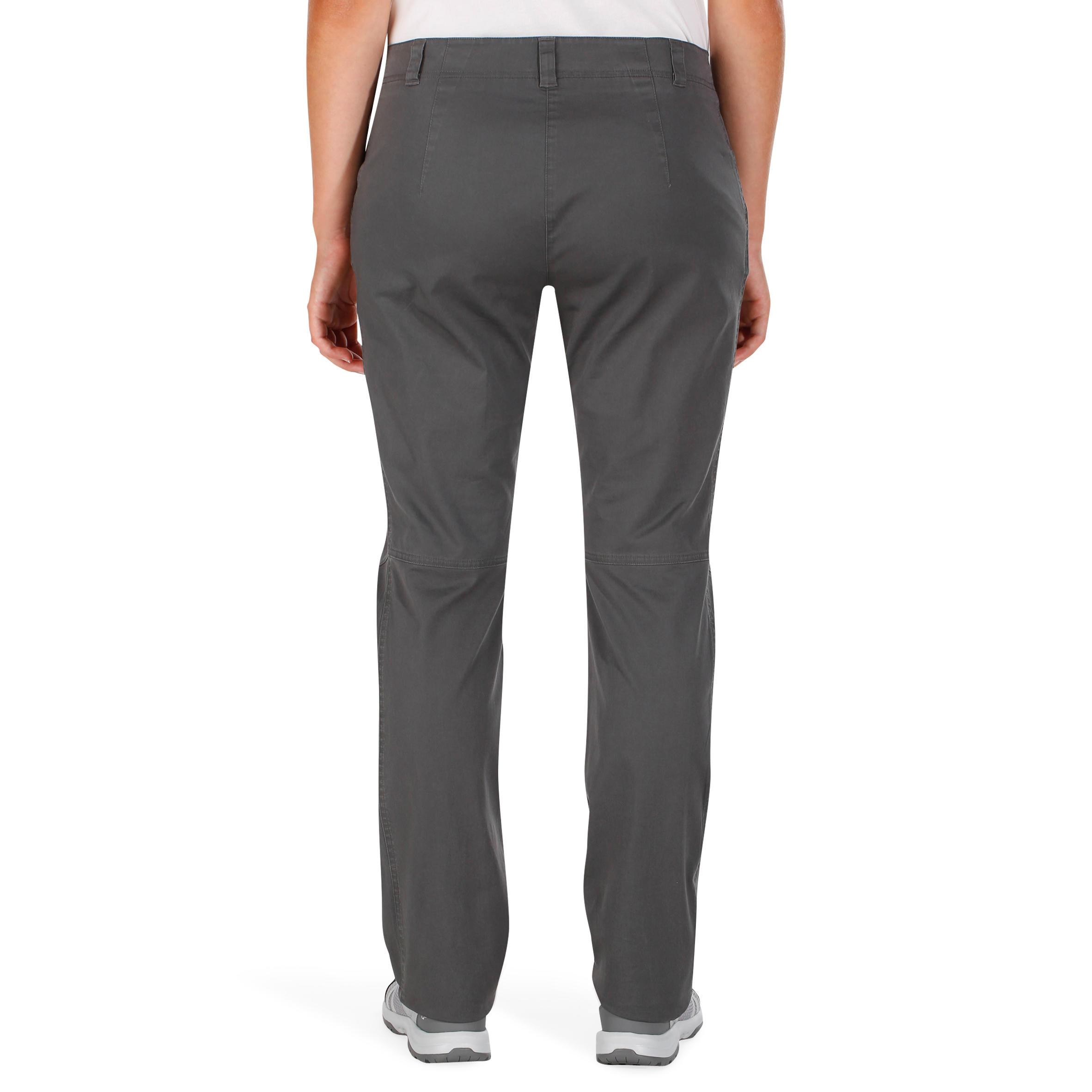 Women's Nature Hiking Trousers NH500 - Grey