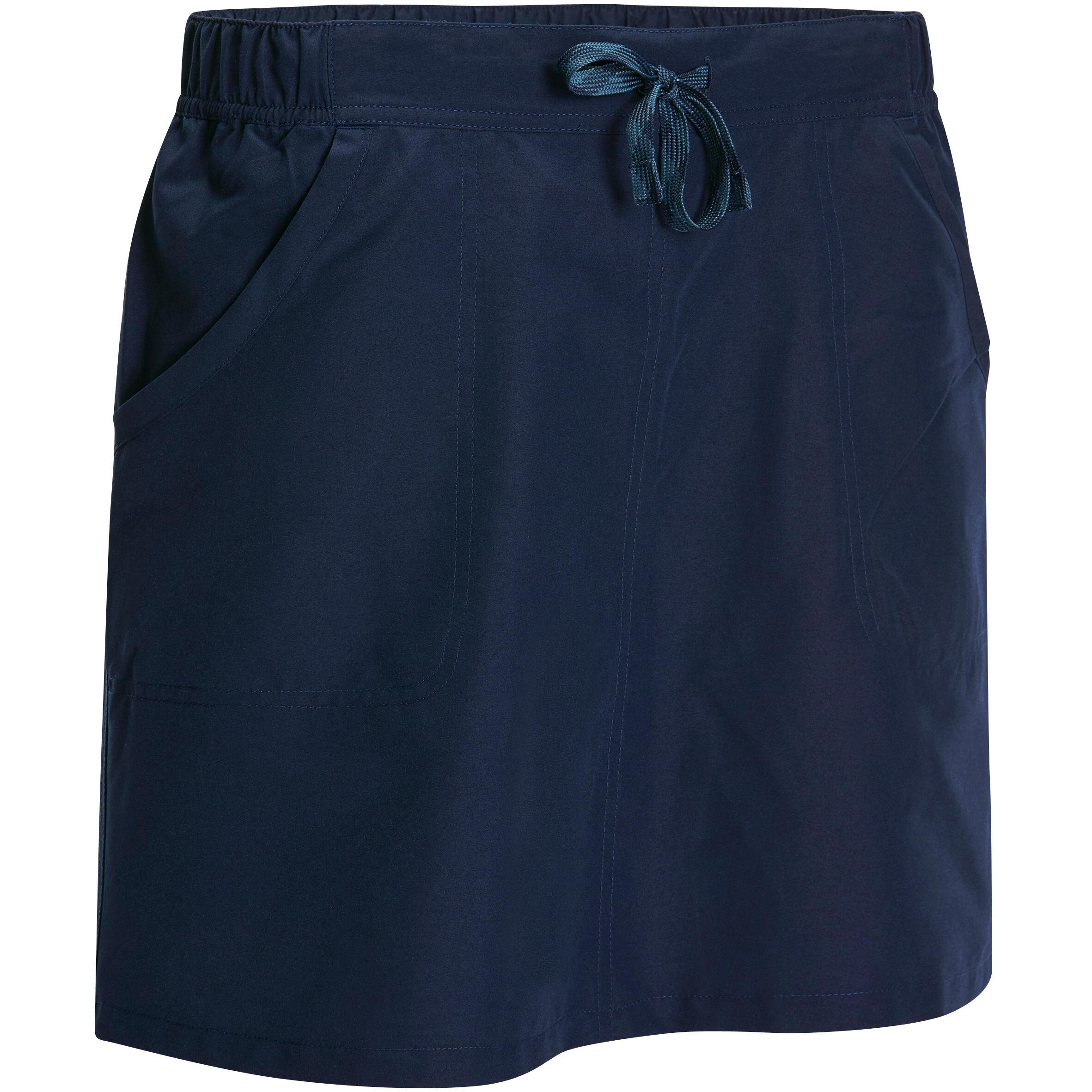 Falda-short travesía naturaleza mujer Arpenaz 50 azul marino