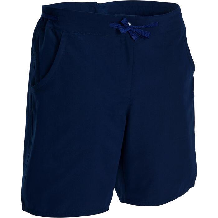 Trekkingshort voor dames Forclaz 50 marineblauw