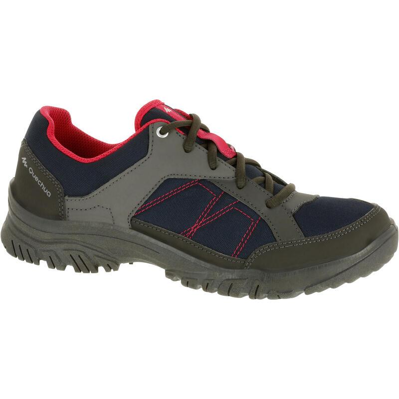 d3c5a69cca7d1 Chaussures de randonnée nature NH100 marine rose femme