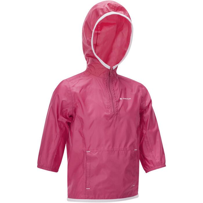 Veste imperméable de randonnée ENFANT Raincut rose