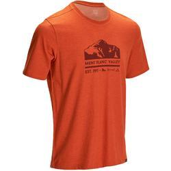 Heren T-shirt voor natuurwandelen NH500 gemêleerd steenrood