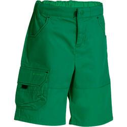 Short de randonnée enfant garçon Hike 500 vert