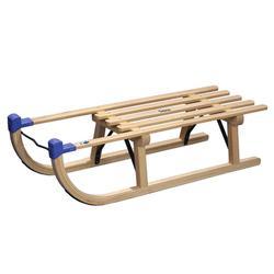 Rodelschlitten Davos Traditional 100cm Holz (Rote Kappen und keine Blauen)