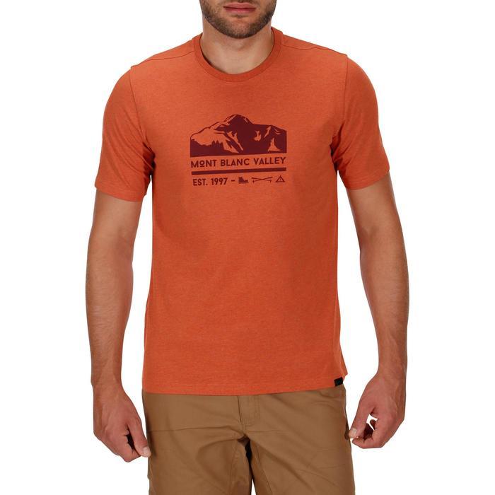 Tee shirt randonnée nature homme NH500 chiné - 1133696