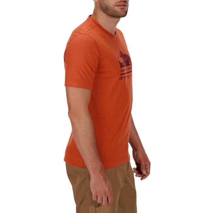 Tee shirt randonnée nature homme NH500 brique chiné
