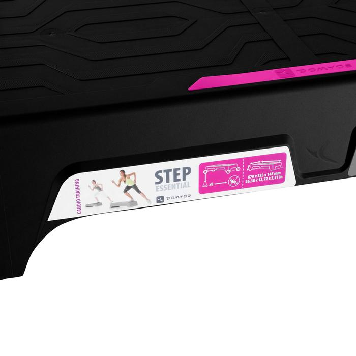 Stepbank Essential zwart roze