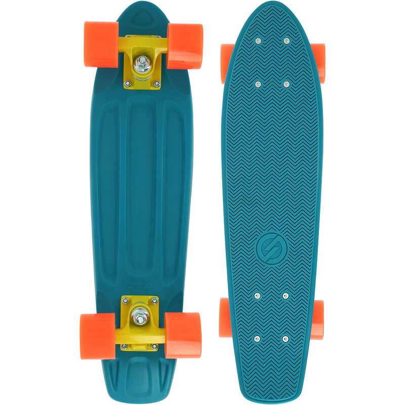 LONGBOARD AND CRUISER Skateboarding and Longboarding - YAMBA Cruiser Skateboard - Blue Coral OXELO - Skateboarding and Longboarding