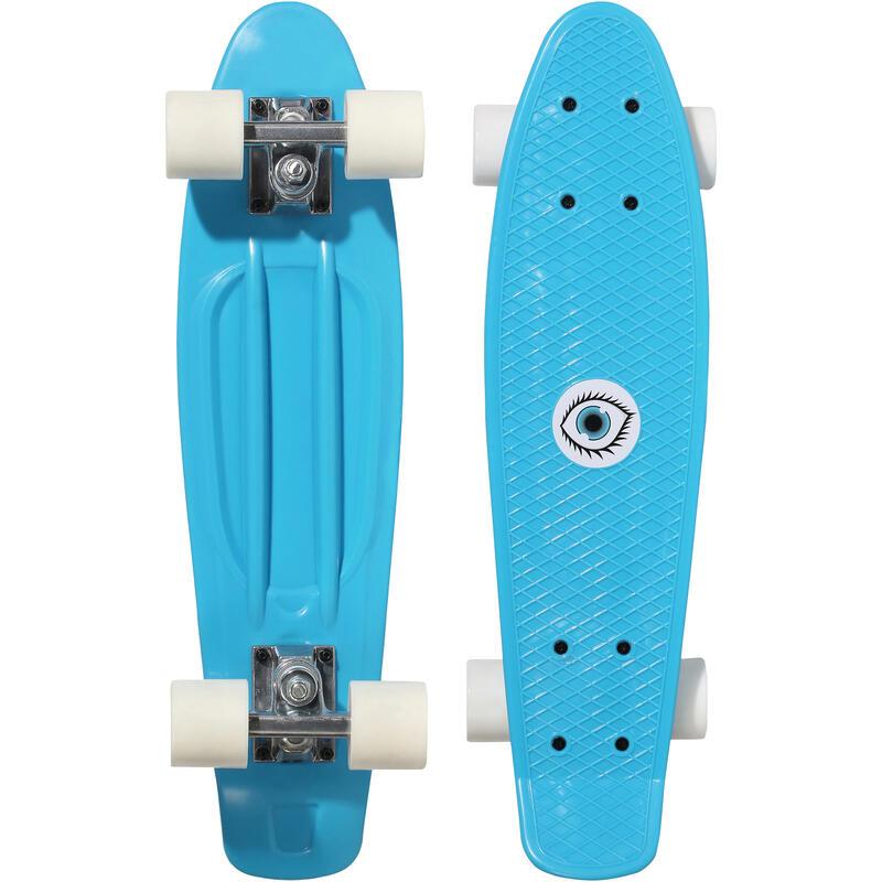 Mini skateboard enfant PLASTIQUE bleu PLAY 500