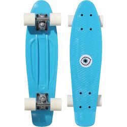 Miniskateboard voor kinderen plastic blauw PLAY 500