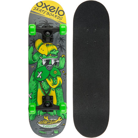 Play 3 Dog Kids Skateboard - Green