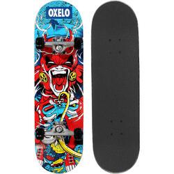 Skateboard MID100 Gamer für Kinder 5–7 Jahre rot