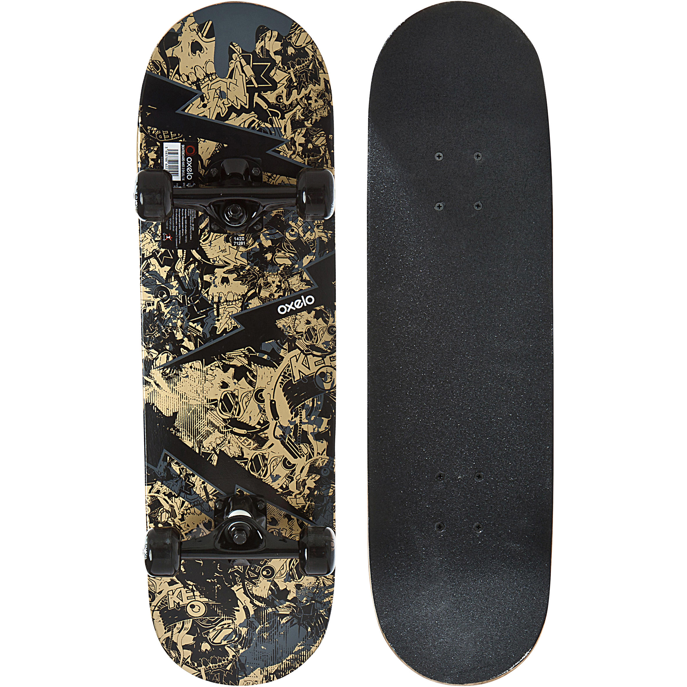 Mid 100 Skull Kids' Skateboard Ages 3 to 7