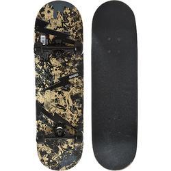 Skateboard MID100 Skull Kinder 7 bis 10 Jahre
