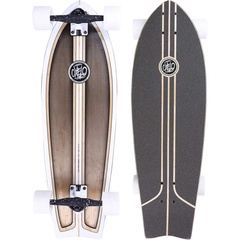 LONGBOARD AND CRUISER Skateboarding and Longboarding - Fish Classic Surf Longboard OXELO - Skateboarding and Longboarding